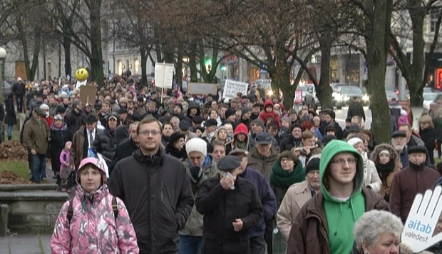 Charter 12 protest (Source: Estonian Public Broadcasting)